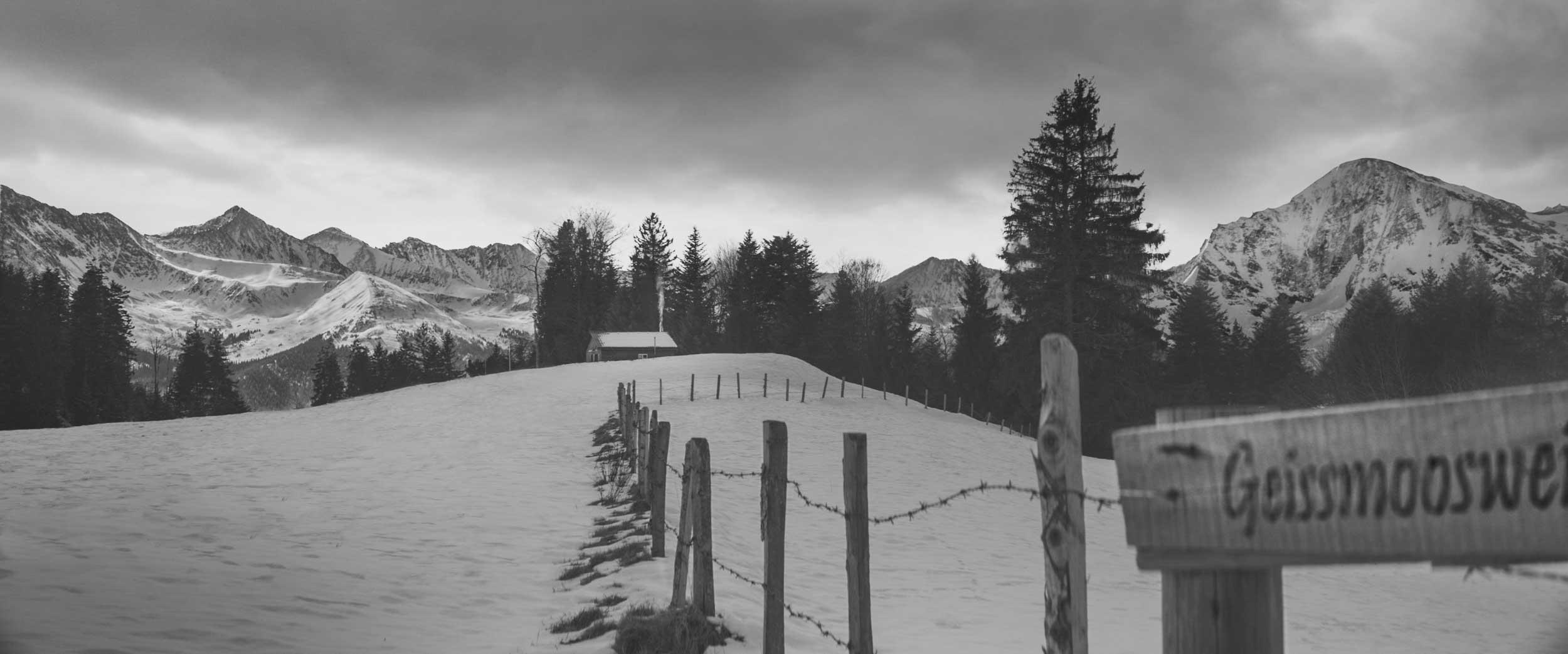 Alpine Getaway | hut in snowy mountains