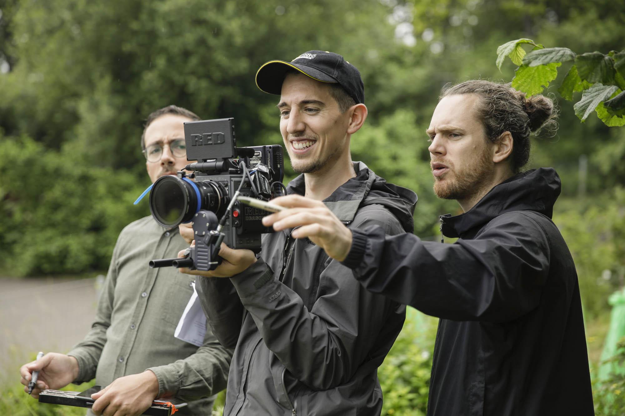 Pünt | Sebastian Klinger and Sven Schnyder on film set